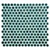 "EliteTile Penny 0.75"" x 0.75"" Porcelain Mosaic Tile in Emerald"