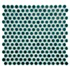 "EliteTile Penny 0.8"" x 0.8"" Porcelain Mosaic Tile in Emerald"
