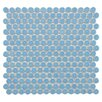 "EliteTile Penny 0.75"" x 0.75"" Porcelain Mosaic Tile in Light Blue"
