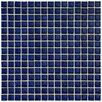 "EliteTile Morgan .625"" x .625"" Porcelain Mosaic Floor and Wall Tile in Cobalt"