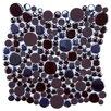 EliteTile Posh Bubble Random Sized Porcelain Mosaic Tile in Brown