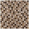 "EliteTile Isle 0.625"" x 0.625"" Porcelain Mosaic Tile in Zealandia"