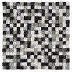 "EliteTile Grizelda Chiseled 0.6"" x 0.6"" Natural Stone Mosaic Tile in Charcoal"