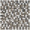 "EliteTile Grizelda Chiseled 0.625"" x 0.625"" Natural Stone Mosaic Tile in sand"