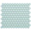 "EliteTile Retro 0.875"" x 0.875"" Porcelain Mosaic Tile in Matte Light Blue"