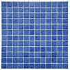 "EliteTile Pool 1"" x 1"" Porcelain Mosaic Tile in Aral"
