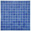 "EliteTile Pool 1"" x 1"" Porcelain Mosaic Tile in Aral"