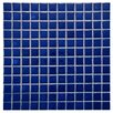 "EliteTile Pool 1"" x 1"" Porcelain Mosaic Tile in Pacific"
