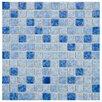 "EliteTile Pool 1"" x 1"" Porcelain Mosaic Tile in Aegean"