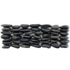 EliteTile Brook Random Sized Natural Stone Pebble Tile in Black Horizon