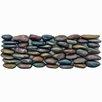 EliteTile Brook Random Sized Natural Stone Pebble Tile in Red Horizon
