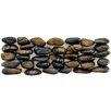 EliteTile Brook Random Sized Natural Stone Pebble Tile in Tiger Eye Horizon
