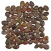 """EliteTile Brook 11.75"""" x 11.75"""" Natural Stone Mosaic Tile in Red"""