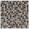 """EliteTile Sierra 0.625"""" x 0.625"""" Glass and Natural Stone Mosaic Tile in Stonehenge"""