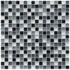 "EliteTile Sierra 0.625"" x 0.625"" Glass Mosaic Tile in Night"