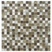 EliteTile Commix Glass and Aluminum Mosaic Tile in Champagne