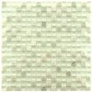 "EliteTile Sierra 0.625"" x 0.625"" Glass and Natural Stone Mosaic Tile in Ming"