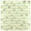 """EliteTile Sierra 0.875"""" x 0.875"""" Glass and Natural Stone Mosaic Tile in Ming"""
