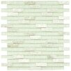 "EliteTile Sierra 0.5"" x 1.875"" Glass & Natural Stone Mosaic Tile in Ming"