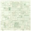 "EliteTile Sierra 11.75"" x 11.75"" Glass and Natural Stone Mosaic Tile in Ming"
