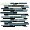"EliteTile Ambit 11.75"" x 11.75"" Glass Mosaic Tile in Marina"