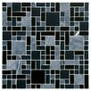 "EliteTile Sierra 11.75"" x 11.75"" Glass and Natural Stone Mosaic Tile in Versailles Bizancio"