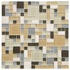 EliteTile Sierra Random Sized Glass and Natural Stone Mosaic Tile in Versailles River