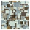 EliteTile Sierra Random Sized Glass and Natural Stone Mosaic Tile in Versailles Tundra