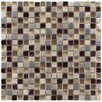 "EliteTile Sierra 0.625"" x 0.625"" Glass, Natural Stone and Metal Mosaic Tile in Aurora"