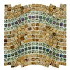 "EliteTile Sierra 0.563"" x 0.563"" Glass and Natural Stone Mosaic Tile in Wave Jupiter"