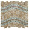 """EliteTile Sierra 0.563"""" x 0.563"""" Glass and Natural Stone Mosaic Tile in Wave Venus"""