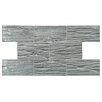 "EliteTile Timber Glass 3"" x 6"" Glass Subway Tile in Blue"