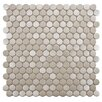 "EliteTile Metallic Metal and Porcelain 11.75"" x 11.75"" Mosaic Tile in Silver"
