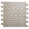 "EliteTile Metallic Metal and Porcelain 11.75"" x 11.75"" Mosaic Tile in Silver"