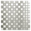 EliteTile Metallic Metal and Porcelain Mosaic Tile in Silver