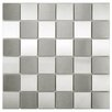 EliteTile Metallic Metal and Porcelain Mosaic Tile in Silver