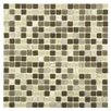"EliteTile Ambit .56"" x .56"" Glass and Natural Stone Mosaic Tile in Aegis"