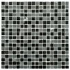"""EliteTile Ambit .56"""" x .56"""" Glass and Natural Stone Mosaic Tile in Citadel"""