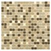 EliteTile Ambit Glass and Natural Stone Mosaic Tile in Crest