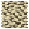EliteTile Ambit Glass and Natural Stone Mosaic Tile in Aegis
