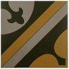 """EliteTile Cementa 7"""" x 7"""" Ceramic Glazed Tile in Cla Centro (Set of 2)"""