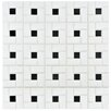 "EliteTile Retro 12.5"" x 12.5"" Porcelain Mosaic Tile in White and Black"