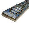 """EliteTile Reef 8"""" x 2"""" Aquatica Ceramic Mosaic Listello Wall Tile in Cobalto"""