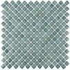 "EliteTile Gem 0.71"" x 0.71"" Porcelain Mosaic Tile in Glossy Marine"
