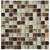 "EliteTile Sierra 0.875"" x 0.875"" Glass and Metal Mosaic Tile in Truffle"