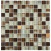"EliteTile Sierra 11.625"" x 11.625"" Glass and Metal Mosaic Tile in Truffle"