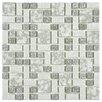 EliteTile Academy Random Sized Porcelain Mosaic Tile in Grey