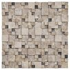 EliteTile Grizelda Random Sized Natural Natural Stone Mosaic Tile in Emperador