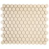 "EliteTile Retro 0.875"" x 0.875"" Porcelain Mosaic Tile in Matte Biscuit"