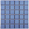 "EliteTile Pool 2"" x 2"" Porcelain Mosaic Tile in Cerulean"
